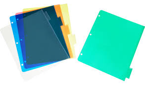 Plastic Index Dividers With View Cover 5 Tab