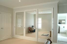 wall joint mirrored sliding wardrobe doors installation models awesome idea save spacing wooden frame