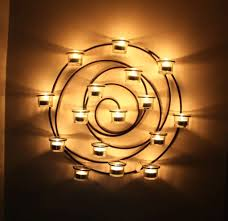 circle wall candle holder metal spiral votive candles round