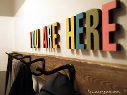 stained and hand painted wood letters craftcuts com unique welcome sign you are here font impact