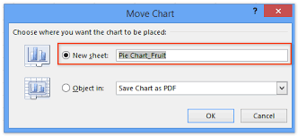 How To Export Save Charts As Pdf Files In Excel