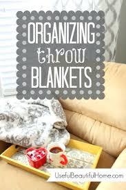 Throw Blanket Storage Ideas