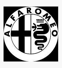 alfa romeo logo black and white. alfa romeo photographic print logo black and white