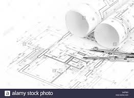 architectural drawings. Architectural Drawings With Floor Plan And Drawing Compass