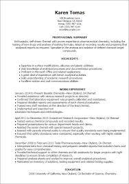 Education Resume Template Simple 60 Chemist Resume Templates Try Them Now MyPerfectResume
