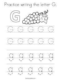 Practice Writing Letters Preschool Practice Writing Letter G Coloring Pages Preschool