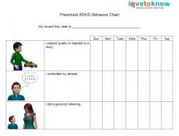 Free Behavior Charts For 2nd Graders Adhd Behavior Charts Lovetoknow