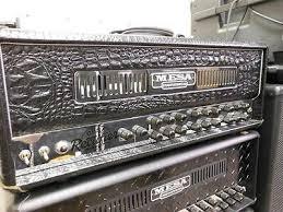 Mesa Boogie <b>Dual</b> Rectifier Black <b>Croc</b> Embossed Leather <b>Head</b> ...