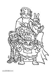 Small Picture Scary Halloween Coloring Pages Coloring Coloring Pages