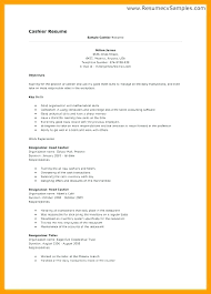 Responsibilities Of Cashier For Resume Restaurant Cashier Resume