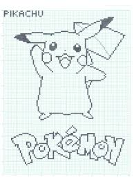 Easy Things To Draw On Graph Paper Pikachu Graph Paper Ver