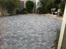 ... Gorgeous Home Exterior And Backyard Decoration With Backyard Pavers :  Top Notch Picture Of Grey Brick ...