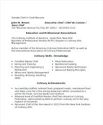 Cook Resumes Mesmerizing Sample Cook Resume Cook Resume Sample Cook Cv Template Datainfo