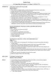 Strategy Consulting Resume Samples | Velvet Jobs