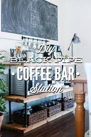 coffee bar. DIY Black Pipe Coffee Bar Station. Don\u0027t Spend Several Hundred On A Table