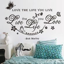New Arrival Love The Life You Live Art Wall Sticker Home Wall Decal Words Room Letters 220x220