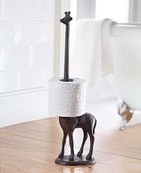 tissue paper roll stand. Home Zone Cast Iron Giraffe Toilet Paper Roll Holder Free Standing Novelty Kitchen Dispenser Intended Tissue Stand