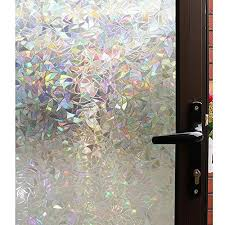 3d decorative window clear stained glass rainbow static cling door privacy