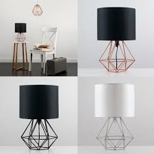 Table Lights For Bedroom Details About Decorative Retro Geometric Table Lamp With Drum