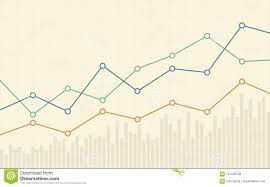 Abstract Business Chart With Uptrend Line Graph And Number