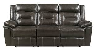grey leather recliner. Leather-Italia Monterey Power Grey Leather Recliner Sofa H