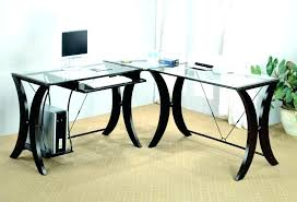 glass l shaped desk black glass l shaped desk glass top computer desk large black glass glass l shaped desk computer