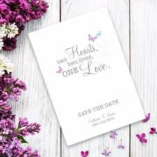 How To Make A Save The Date Card Two Become One Save The Date Card