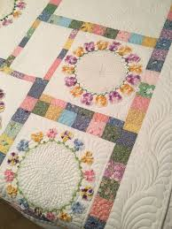 Portable Quilt Display Stand The Making of the Pansy Doily Quilt Rhonda Dort 48