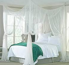 Amazon.com: vinmax 4 Corner Post Bed Canopy Mosquito Net Full Queen ...