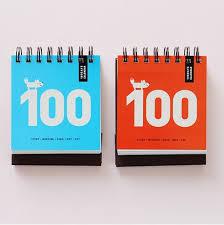 Calendar Countdown Days 1pc New Desk Calendar Paper Spiral 100 Days Countdown Calendar Mini