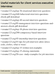 Top   client services executive resume samples