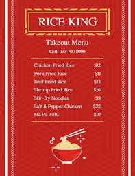 Take Out Menu Template Online Takeout Cuisine Menu Template Fotor Design Maker