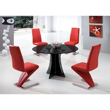 round smoked glass dining table dining table chairs red roses flooring and furniture charell