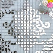silver frosted puzzle glass mosaic tiles h058 2