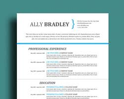 Professional Resume Template | Cover Letter & References Page | Easy to Edit  in Word |