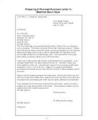 Personal Business Letter Examples Personal Business Letter Block Format Collection Of Solutions