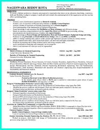 Chemical Engineer Resume Examples Examples Of Resumes