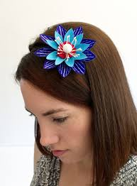 Paper Flower Headbands Vitamini Handmade Diy 4th Of July Paper Flower Headband