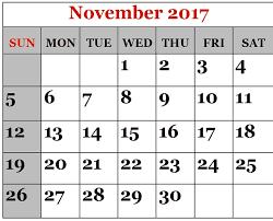 november 2017 printable calendar templates free printable
