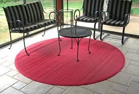 round patio rug