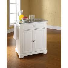white portable kitchen island. crosley alexandria granite top portable kitchen island white p