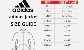 Adidas Youth Jacket Size Chart Adidas Youth Shirt Size Chart