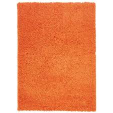 berrnour home plush solid gy orange 5 ft x 7 ft area rug