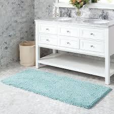 24 x 60 bath rug noodle loop in blue as is bathroom rugs cotton