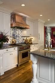 Good Looking Copper Kitchen Backsplash For Kitchen Decoration : Delightful Kitchen  Decoration Ideas Using Blue Tile