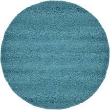 unique loom solid deep aqua blue 6 x 6 round rug