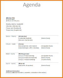 Agenda Example Safety Committee Meeting Agenda Template Team