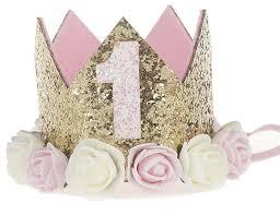 1st Birthday Cake Smash Glitter Crown Baby Prop Hat Several Styles
