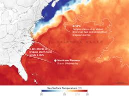 Ocean Temperature Charts Atlantic Florence Crossing Warm Waters On The Way To The Carolinas