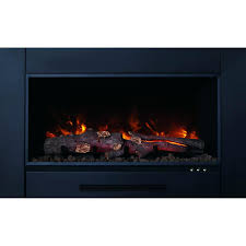 electric fireplace log insert with heater arrowflame deluxe 24 inserts canada